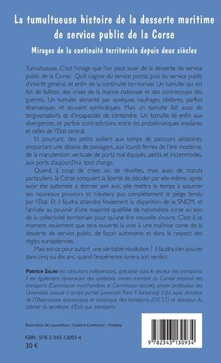 4eme Tumultueuse histoire de la desserte maritime de service public de la Corse