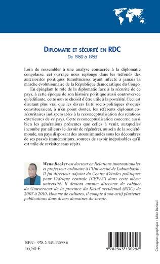 4eme Diplomatie et sécurité en RDC de 1960 à 1965