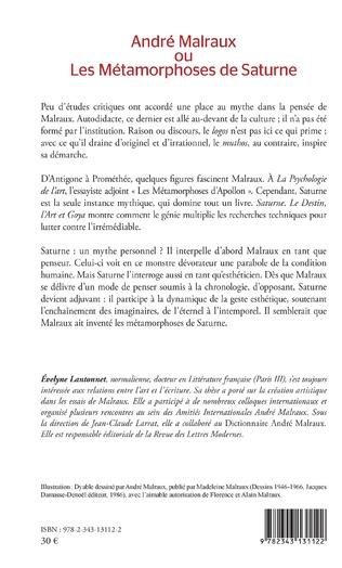 4eme André Malraux ou Les Métamorphoses de Saturne