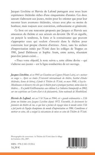 4eme Conseils du théâtre de l'Unité à ne pas suivre.