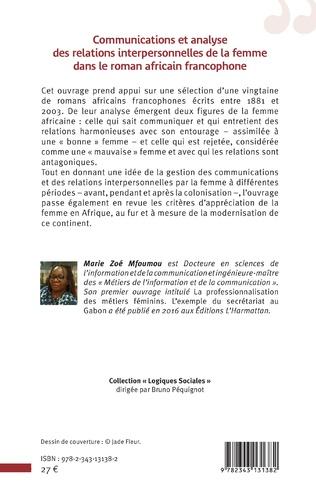 4eme Communications et analyse des relations interpersonnelles de la femme dans le roman africain francophone