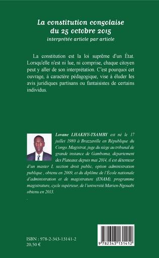 4eme La constitution congolaise du 25 octobre 2015