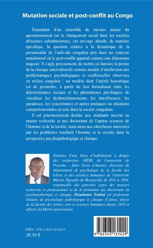 4eme Mutation sociale et post-conflit au Congo