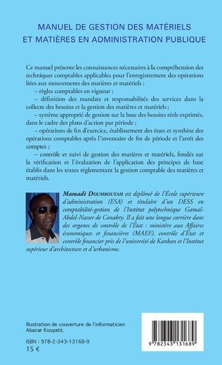 4eme Manuel de gestion des matériels et matières en administration publique