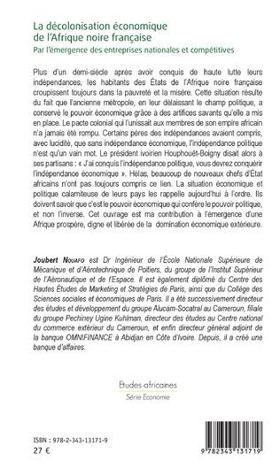 4eme La décolonisation économique de l'Afrique noire française