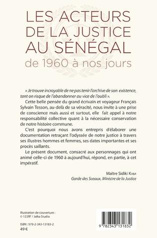4eme Les acteurs de la justice au Sénégal de 1960 à nos jours