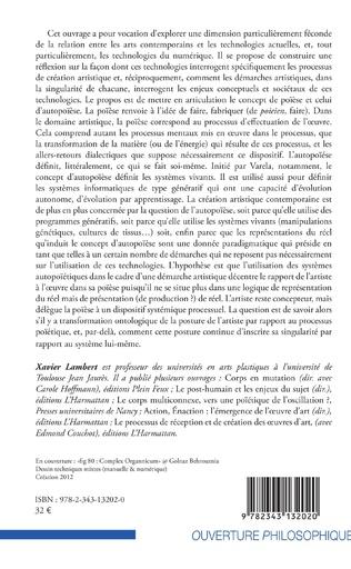 4eme Poïèse / Autopoïèse : arts et systèmes