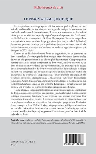 4eme Le pragmatisme juridique