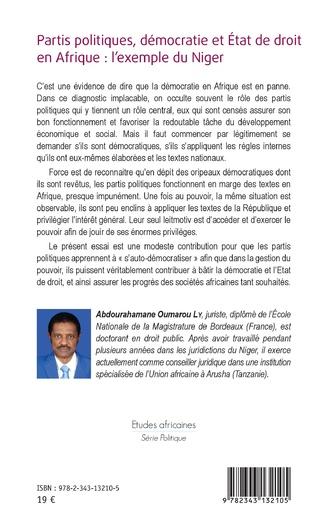 4eme Partis politiques, démocratie et État de droit en Afrique :
