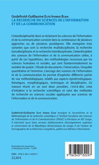 4eme La recherche en sciences de l'information et de la communication