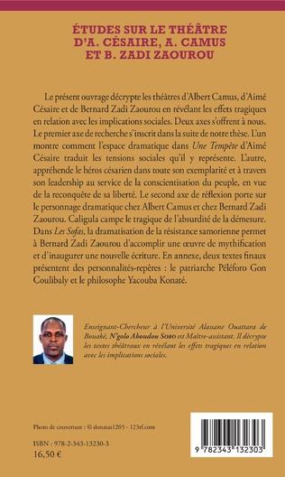 4eme Etudes sur le théâtre d'A. Césaire, A. Camus et B. Zadi Zaourou