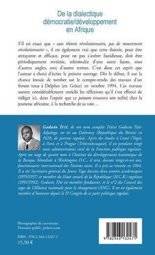 4eme De la dialectique démocratie / développement en Afrique
