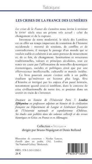 4eme Les crises de la France des Lumières