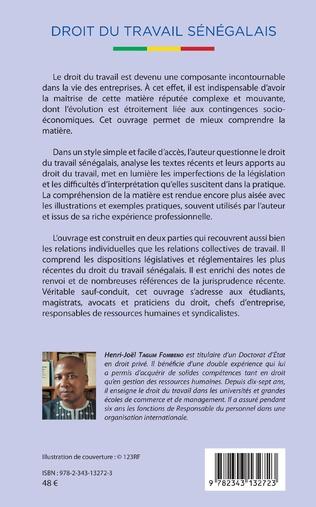 4eme Droit du travail sénégalais