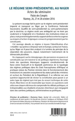 4eme Le régime semi-présidentiel au Niger