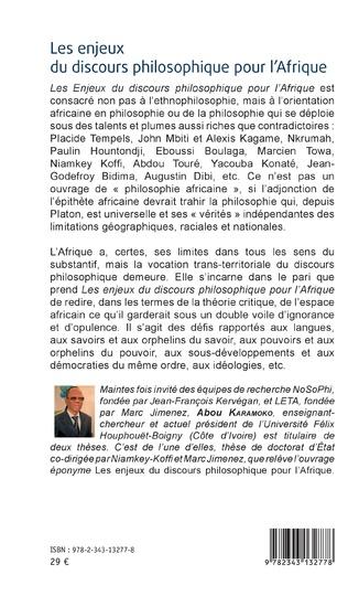 4eme Les enjeux du discours philosophique pour l'Afrique