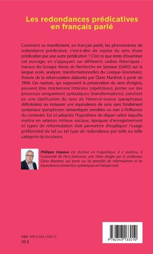 4eme Les redondances prédicatives en français parlé