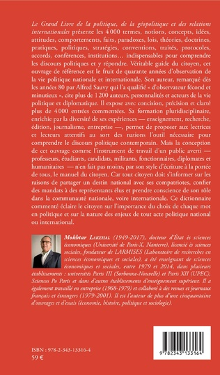 4eme Le grand livre de la géopolitique et des relations internationales