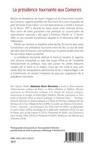 4eme La présidence tournante aux Comores