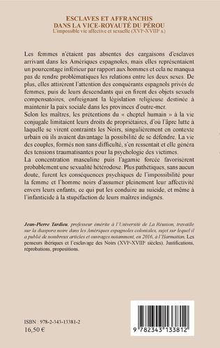4eme Esclaves et affranchis dans la vice-royauté du Pérou