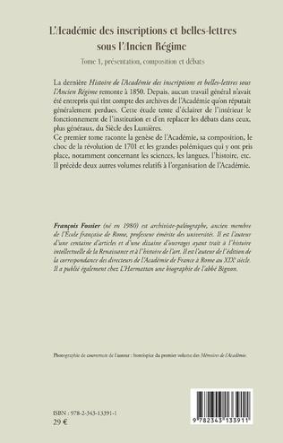 4eme L'Académie des inscriptions et belles-lettres sous l'Ancien Régime