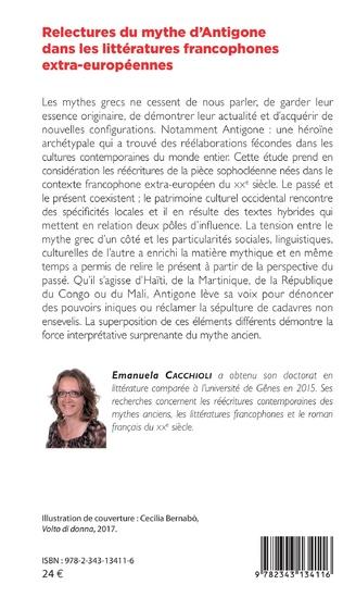 4eme Relectures du mythe d'Antigone dans les littératures francophones extra-européennes
