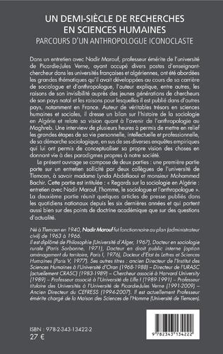 4eme Un demi-siècle de recherches en sciences humaines