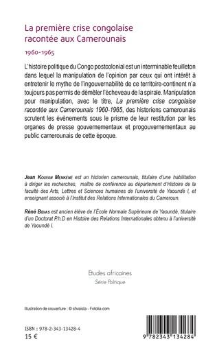 4eme La première crise congolaise racontée aux Camerounais