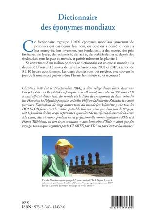 4eme Dictionnaire des éponymes mondiaux