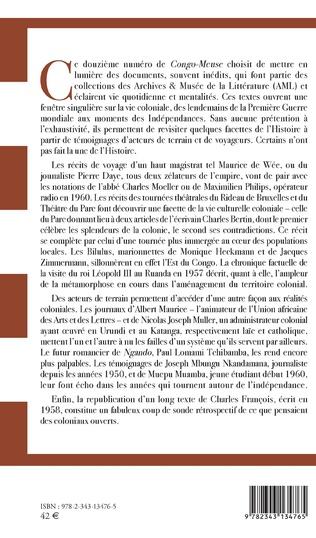 4eme Traces de la vie coloniale au Congo belge et au Ruanda-Urundi