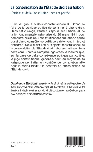 4eme La consolidation de l'Etat de droit au Gabon