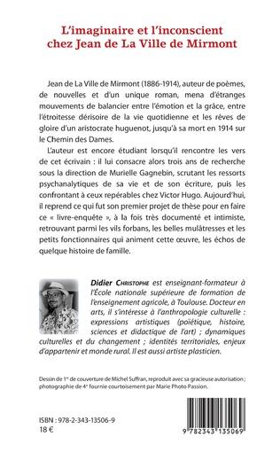 4eme L'imaginaire et l'inconscient chez Jean de La Ville de Mirmont