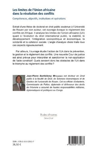 4eme Les limites de l'Union africaine dans la résolution des conflits