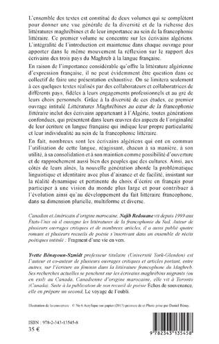 4eme Littératures maghrébines au coeur de la francophonie littéraire
