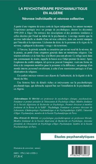 4eme La psychothérapie psychanalytique en Algérie