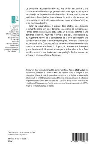 4eme La demande reconventionnelle devant la Cour internationale de Justice