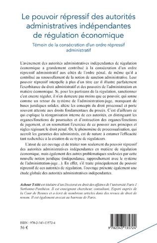4eme Pouvoir répressif des autorités administratives indépendantes de régulation économique
