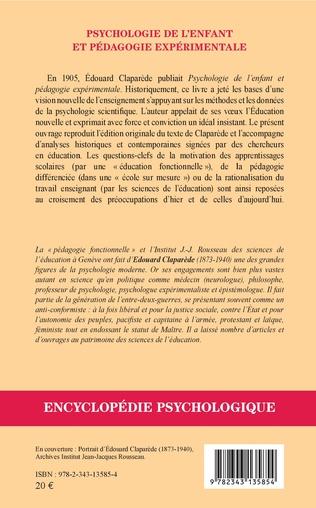 4eme Psychologie de l'enfant et pédagogie expérimentale (1905)