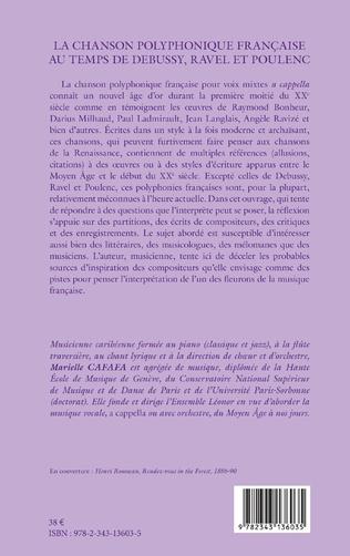 4eme La chanson polyphonique française au temps de Debussy, Ravel et Poulenc