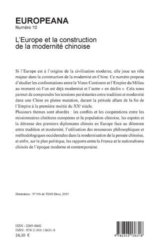 4eme L'Europe et la construction de la modernité chinoise