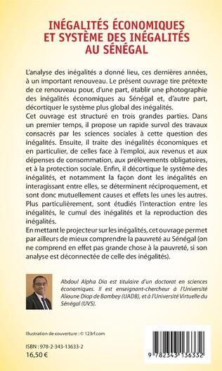 4eme Inégalités économiques et système des inégalités au Sénégal