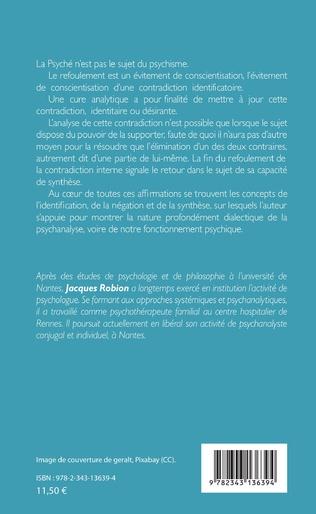 4eme Pour une psychanalyse dialectique
