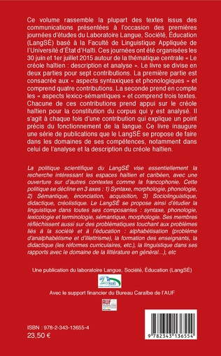 4eme Le créole haïtien : description et analyse