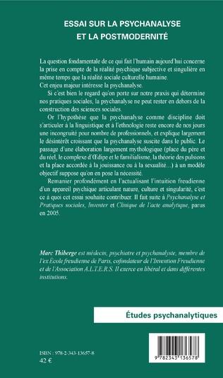4eme Essai sur la psychanalyse et la postmodernité