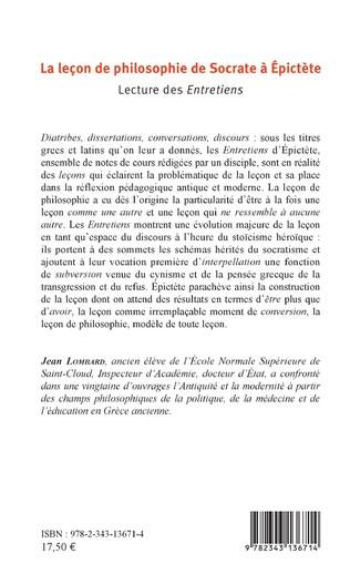 4eme La leçon de philosophie de Socrate à Epictète