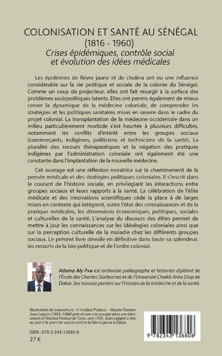 4eme Colonisation et santé au Sénégal