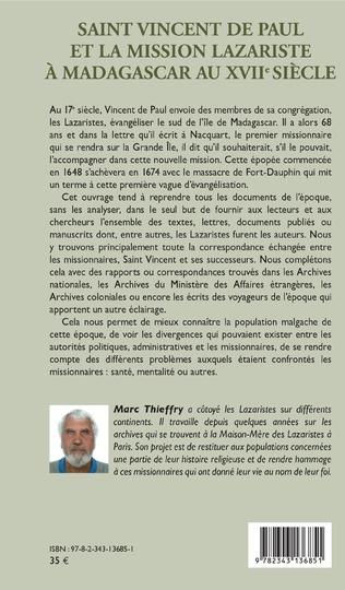 4eme Saint Vincent de Paul et la mission lazariste à Madagascar au XVIIe siècle