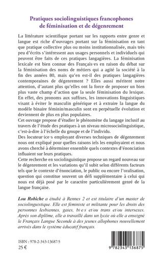 4eme Pratiques sociolinguistiques francophones de féminisation et de dégenrement