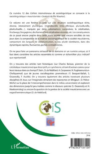 4eme Recherches sociolinguistiques à Maurice