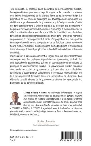 4eme Gouvernance durable des collectivités territoriales